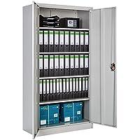 TecTake Armoire de Bureau Metallique verrouillable avec étagères - diverses Tailles au Choix - (180x90x40 cm | no. 402483)