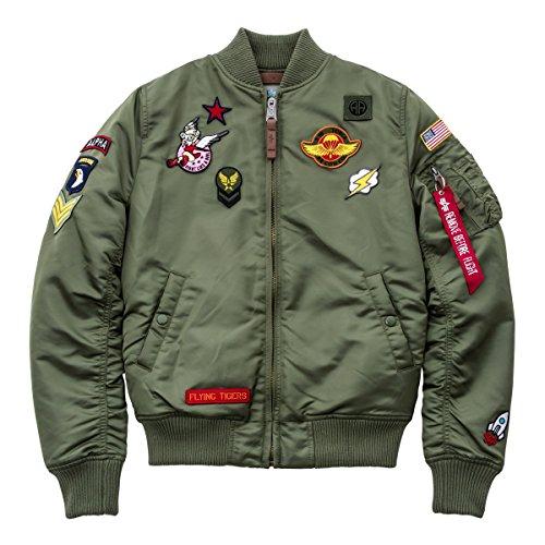 Alpha Industries MA-1 VF Patch Damen Jacke Oliv L