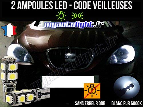 MyAutoLight - Pack Ampoules Voiture Pour Altea - Veilleuses - Blanc Pur Effet Xénon