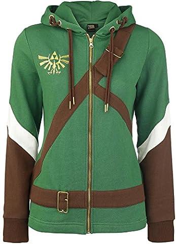 The Legend of Zelda Cosplay Zip-Hoodie grün/braun