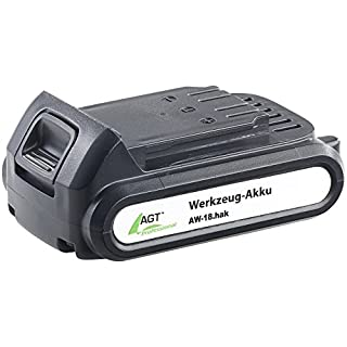 AGT Professional Zubehör zu Werkzeug Accu: Li-Ion-Werkzeug-Akku AW-18.hak, 18 V/2000 mAh (Werkzug Lithium-Ionen-Akku)