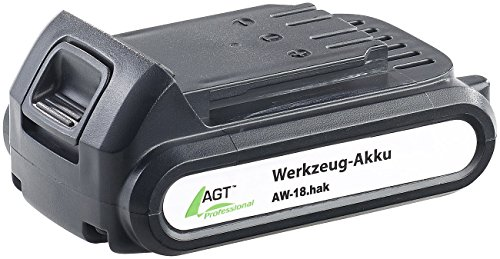 AGT Professional Zubehör zu Werkzeug-Akkus: Li-Ion-Werkzeug-Akku AW-18.hak, 18 V/2000 mAh (Li-Ion-Akkupack)