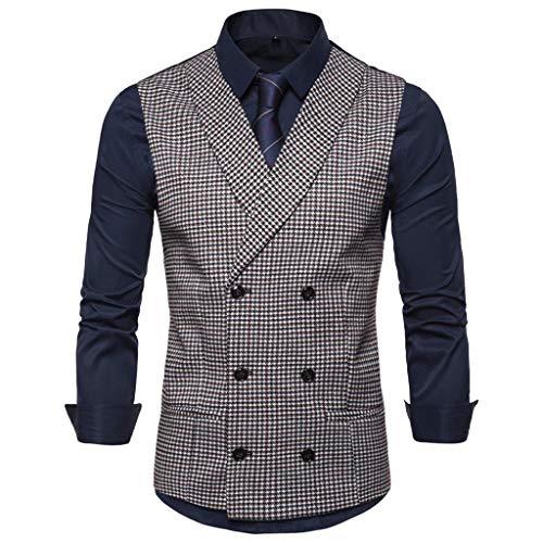 Anzugweste Herren Weste Mode Business Casual Hochzeitsweste Tops Jacke Coat Weiß Rot Kaffee S M L XL XXL CICIYONER