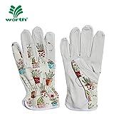 Worth Garden 1 Paar Leder Handschuhe Garten- und Arbeitshandschuhe Unisex für Damen und Herrn Gr. 10/XL