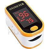 Aution House - Digital Portátil Oxímetro y Pulsioximetro de Dedo - OLED Pantalla Clara La Yema del Dedo Oxígeno de la Sangre Monitor de Saturación - Con un Acollador ,2 pilas AAA