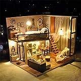 Pädagogisches Spielzeug Kreatives handgemachtes kleines Haus-Zusammenbau-Modell Miniatur-3d Gewächshaus-Fertigkeit-Ausrüstungen für Erwachsene - hölzernes Puppenhaus mit Möbeln und Zubehör, pädagogisc