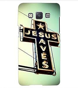 ColourCraft Jesus Cross Design Back Case Cover for SAMSUNG GALAXY E5