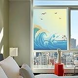 Transparente Undurchsichtige Selbstklebende Fenster aus Milchglas Aufkleber Film Badezimmerfenster Blume, Wärmedämmung Film,Breite 45Cm 60Cm X Hoch