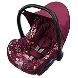 BAMBINIWELT Ersatzbezug für Maxi-Cosi CabrioFix 6-tlg, Bezug für Babyschale, Komplett-Set PINK ROSA BLUMEN *NEU*
