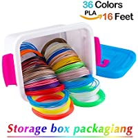 nanhong Roll outthe New 3d filamento de Pen Refills Storage Box Kit 6 Glow in the Dark Colors 1.75 mm PLA.18/36 colors