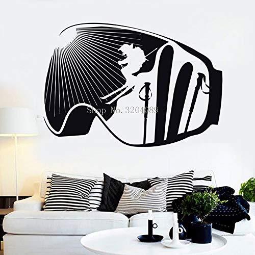zqyjhkou Vinyl Wandtattoos Extreme Ski Winter Sport Skifahren Aufkleber Dekoration Für Mann Schlafzimmer Wandbilder Selbstklebende Einzigartige Giftyy601 80x56 cm