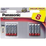 Panasonic Tous les jours Alimentation pile alcaline (AAA, LR03, 8 pack)