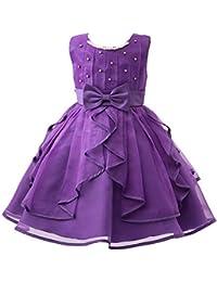 Lisianthus002poco de las niñas vestido de princesa de Pearl cuello lazo largo vestido