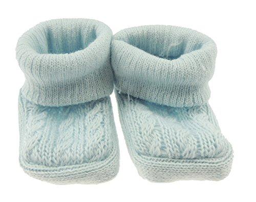 Hats By CressidaBaby Mädchen (0-24 Monate) Socken 0-3 Monate Blau - Blau