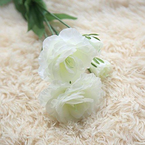 QHJ Kunstblumen,Künstliche Kunstblumen Platycladus Orientalis Blumenhochzeitsstrauß Wohnkultur Künstlicher Blumenblumenstrauß der Haupteustomablume Gefälschten (Weiß) -