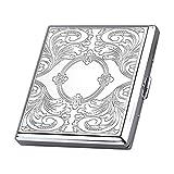 Marke neue hohe Qualität Metall Zigarettenetui Box Halter für 20Zigaretten Silber