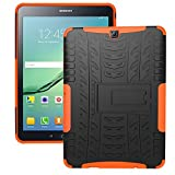 Galaxy Tab S2 9.7 Case,Samsung Galaxy Tab S2 9.7 LTE Hülle,XITODA Tough Rugged ShockProof Hybrid Kickstand Protection Back Cover Case mit Stand für Samsung Galaxy Tab S2 9.7 Zoll SM-T810 T815 T813 T819 Tablet - Orange