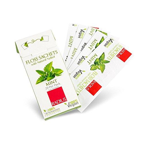 Radius, Zahnseide Sachets, mit Natural Xylitol, Mint, 20 Stück pro Packung (Radius, Zahnseide)