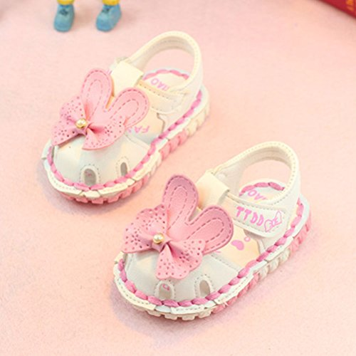 Sandals Zhhlaixing Soled Princess Girls Baby White Soft Flowers Kids Toddler Hollow Shoes w1YxwFr