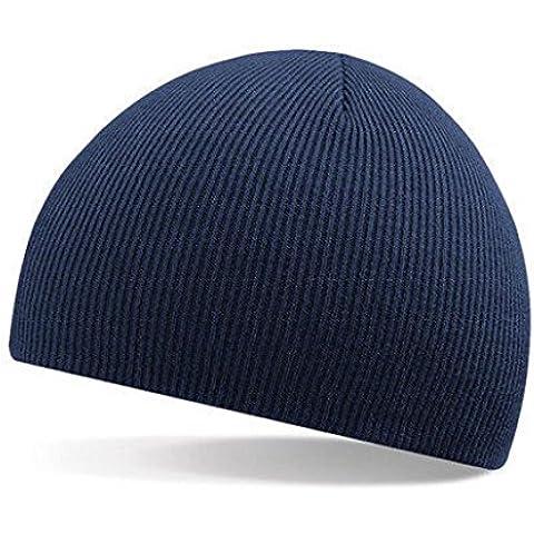 Malloom® Hombres Mujeres universal Invierno Unisex Beanie cúpula Sombrero Slouchy Baggy tejer Gorra de esquí (azul marino)