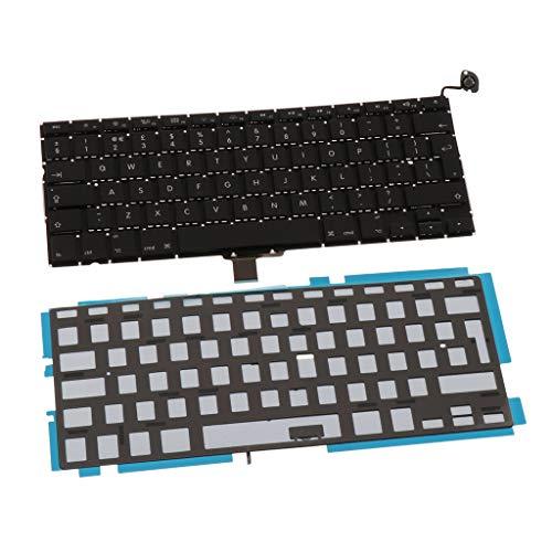 FLAMEER Ersatz Notebook Tastatur Keyboard Repair UK QWERTY Layout w/Beleuchtung für MacBook Pro 13 Zoll A1278 Unibody 2009-2012 (Ersatz-schlüssel Für Macbook Pro)