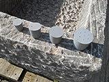Der Naturstein Garten Verschlußstopfen 22/17mm - Trog Brunnen Steintrog Granittrog Sandsteintrog Gummistopfen Gummi Stopfen