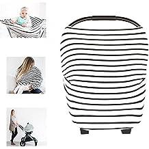 Multiusos orgánico algodón enfermería lactancia materna, Baby Set de coche para toldo carrito de la compra cubierta Swaddle Manta para bebés recién nacidos Niños ducha regalo (el clásico)