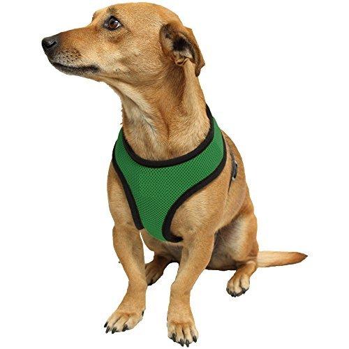 Ducomi Snoopy Pettorina Regolabile e Confortevole per Cani e Cuccioli (S, Green)