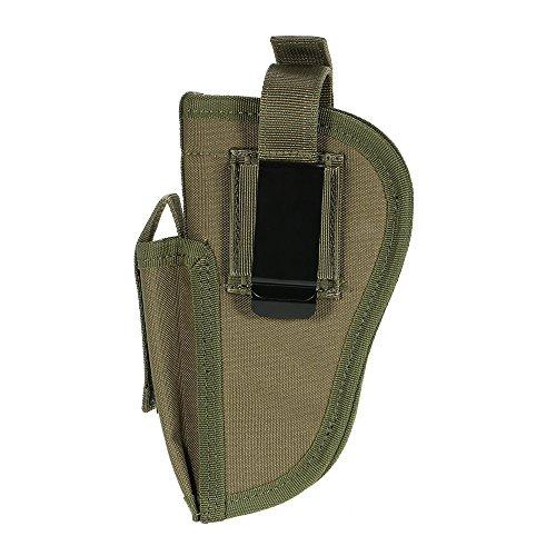 docooler Etui für Pistole rechts links austauschbar mit MAG POUCH militärischen Gear Zubehör, dunkelgrün (Feder-clip-holster)