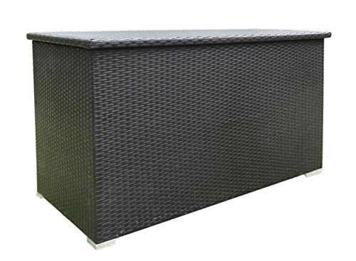 Baidani Rattan Kissen- und Aufbewahrungsbox, schwarz