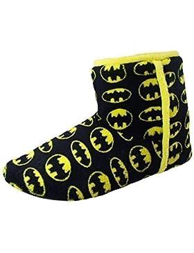 Batman Jungen Hausschuhe Stiefel Schwarz Gelb Neuheit Stiefel Slipper
