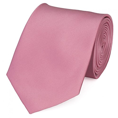 Elegante Krawatte in uni rosa von Fabio Farini