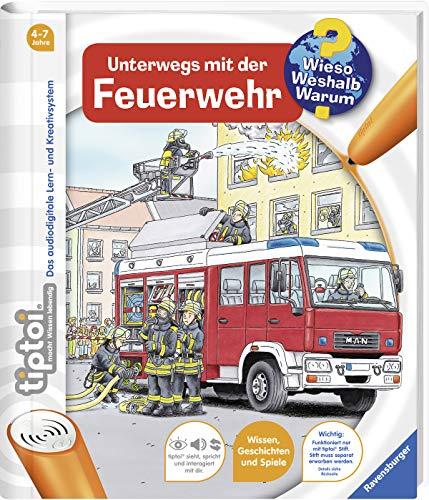 Ravensburger 00581 - tiptoi, Unterwegs mit der Feuerwehr - Wieso? Weshalb? Warum? (ohne Stift) (tiptoi Wieso? Weshalb? Warum?, Band 6)