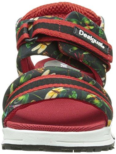 DesigualSables 3 - Sandali con zeppa Donna Rosso (Rouge (3000 Carmin))