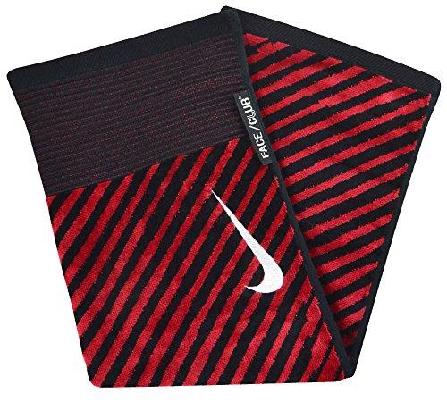 Nike golf- Gesicht/Club Jacquard Handtuch Schwarz/Rot schwarz/red