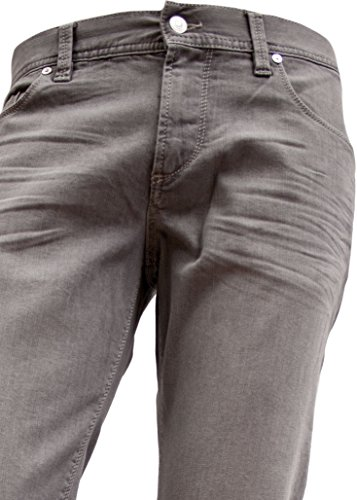 Alberto Herren Jeans Pipe Regular Slim Fit Superfit Denim Grau