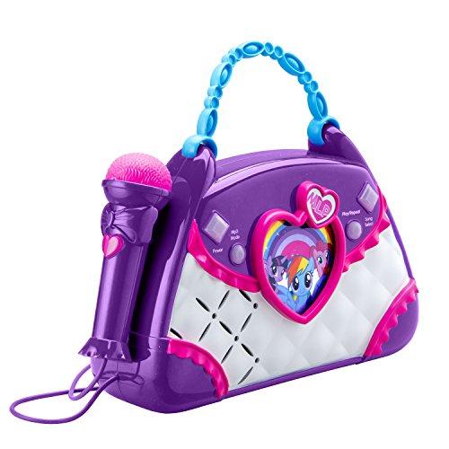 ekids ML-115 My Little Pony Karaoke Boombox mit Mikrofon und Aux-In Anschluss für Kinder ab 3 Jahren, Lila