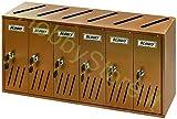 Blinky 2735806 Casellari Postali in Alluminio Ramato, K6 6-Box, 62x17.5x30