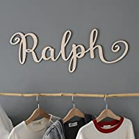 V&C Designs Ltd Custom Personalised Large Wooden Name Plaque Wall Sign Nursery Decor Wall Letters