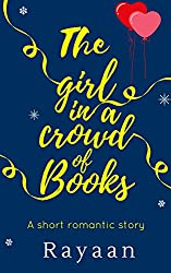 The girl in a crowd of books