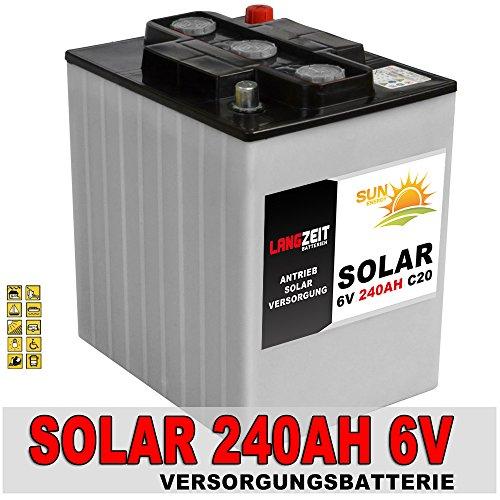 Solarbatterie 240Ah 6V Versorgungsbatterie Wohnmobil Mover Beleuchtung Batterie 6Volt