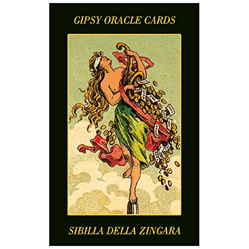 Gypsy Oracle Fortune Telling Cards, 52 Cards Deck with Multilingual Instructions by Green Cross Toad