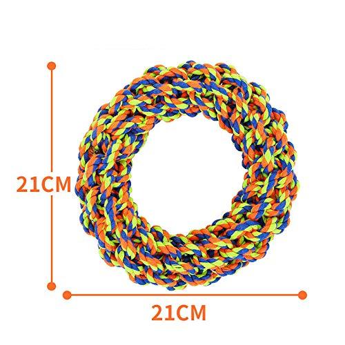 HY Hund Rope Spielzeug Haustier Mit Molarenreinigung Der Zähne Großhandel Spot Vent Spielzeug Corn Ring Big Dog Bissseil (orange grün blau) M