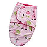 #10: Baby Bucket Baby Swaddle Wrap Soft Envelope for Newborn (Pink Animal)