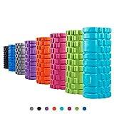 Syourself Foam Roller da massaggio-33cmx14cm-Qualità Superiore-Rullo per Riabilitazione, Yoga e Pilates, Punti di innesco per Il Tessuto Profondo Massaggio e Il Rilascio miofasciale+Borsa (Nero)