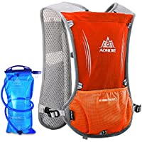 Lixada 5L Vejiga de Agua Mochila, Mochila Hidratación, Running Mochila, Impermeable y Transpirable, para Camping, Marathoner, Correr, Caminar, Escalada, Actividades al Aire Libre (Rojo+1500ML)