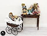 Classic Interior Porzellan Puppen Mädchen Porzellanpuppe Antik Keramik Kinderwagen