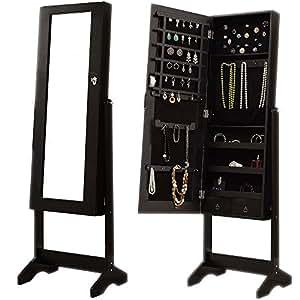Home Discount Nishano Jewellery Cabinet Mirror Floor Standing Storage Box Organiser Bedroom