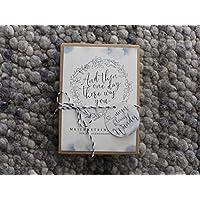 Schwangerschafts-Meilensteinkarten Grey Aquarell