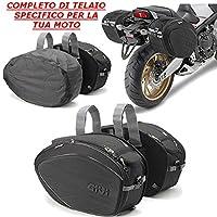 Bolsos Laterales EA101B de 30lt + telaietti te8201Adherencias GIVI para Moto Guzzi V72012